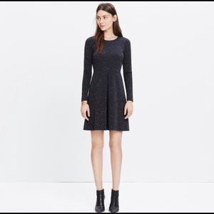 Madewell Concept Dress Black Long Sleeve  Size 12